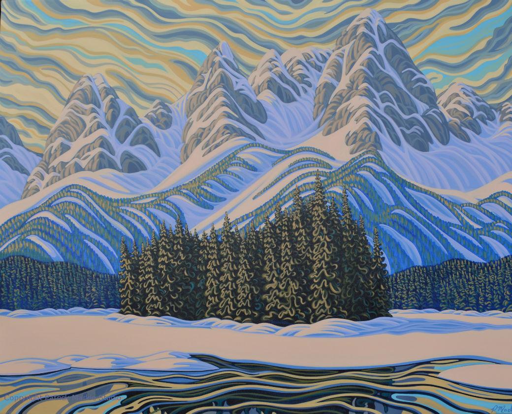 Patrick Markle, Canadian Artist, Landscape Painting, Fernie, Alberta