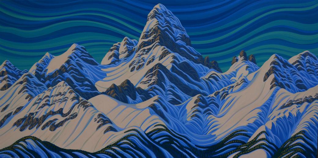 Assiniboine original painting, Patrick Markle