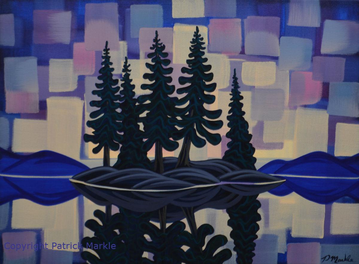 northern lights, north, island, canada, landscape, Ontario