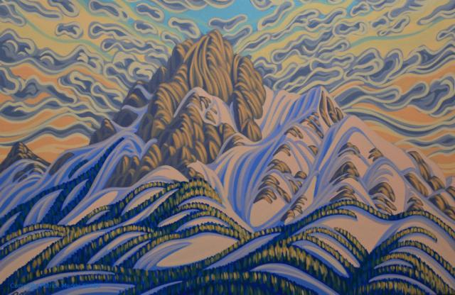 Patrick Markle, Canadian Artist, Landscape Painting, Fernie