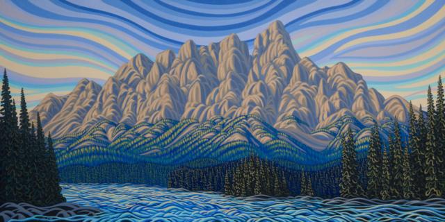 Patrick Markle, Castle Mountain, Banff, canadian artist, Banff National Park