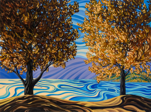 "Original Painting by Patrick Markle - ""Lake Okanagan"""
