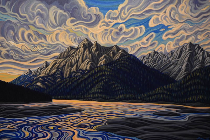 "Original Painting by Patrick Markle - ""Medicine Lake"""