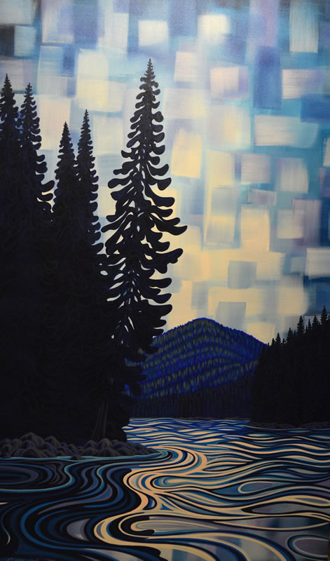 "Original Painting by Patrick Markle - ""Athabasca River"" (Jasper National Park)"