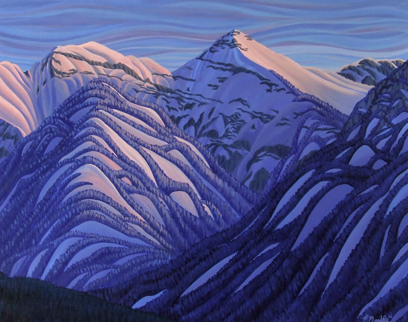 "Original Painting by Patrick Markle - ""Broadwood 2"" (Mount Broadwood, near Fernie, BC)"