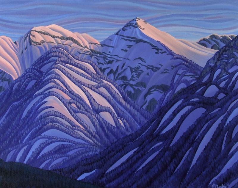 "Original Painting by Patrick Markle - ""Broadwood 2"" (Mount Broadwood, near Fernie, BC)"