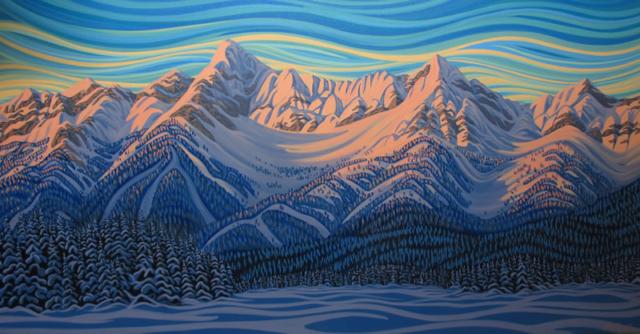 "Original Painting by Patrick Markle - ""Deep Freeze Elk River"""