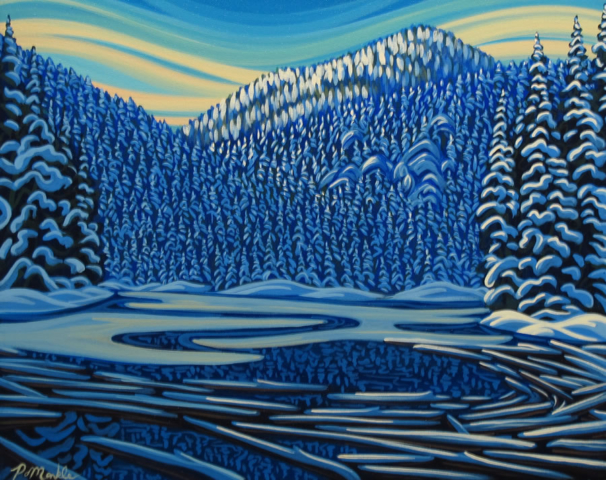"Original Painting by Patrick Markle - ""Fish Lake II"""