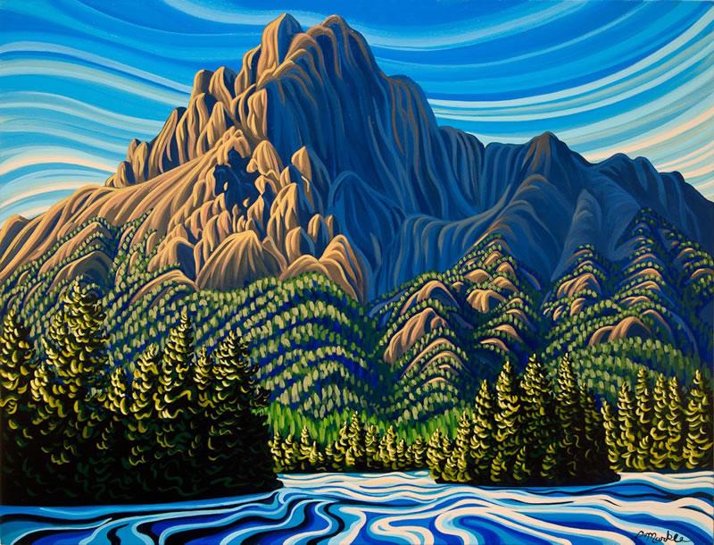 "Original Painting by Patrick Markle - ""Ghostrider"""