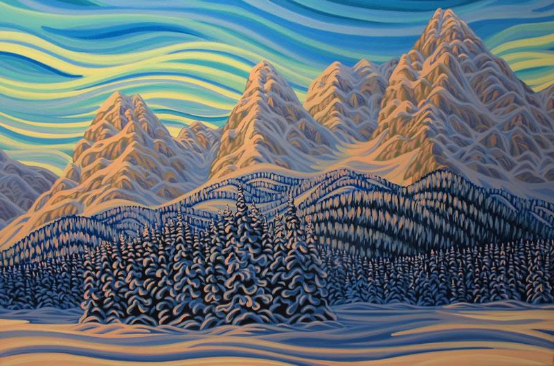 "Original Painting by Patrick Markle - ""Island Lake Fresh Morning"""