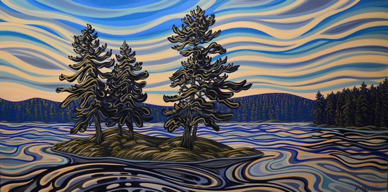 "Original Painting by Patrick Markle - ""Lake Muskoka"""
