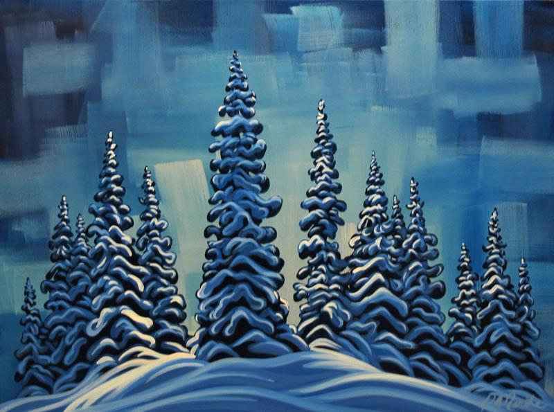 "Original Painting by Patrick Markle - ""Last Run"""