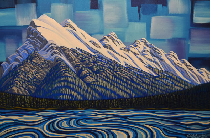 "Original Painting by Patrick Markle - ""Mount Rundle"""