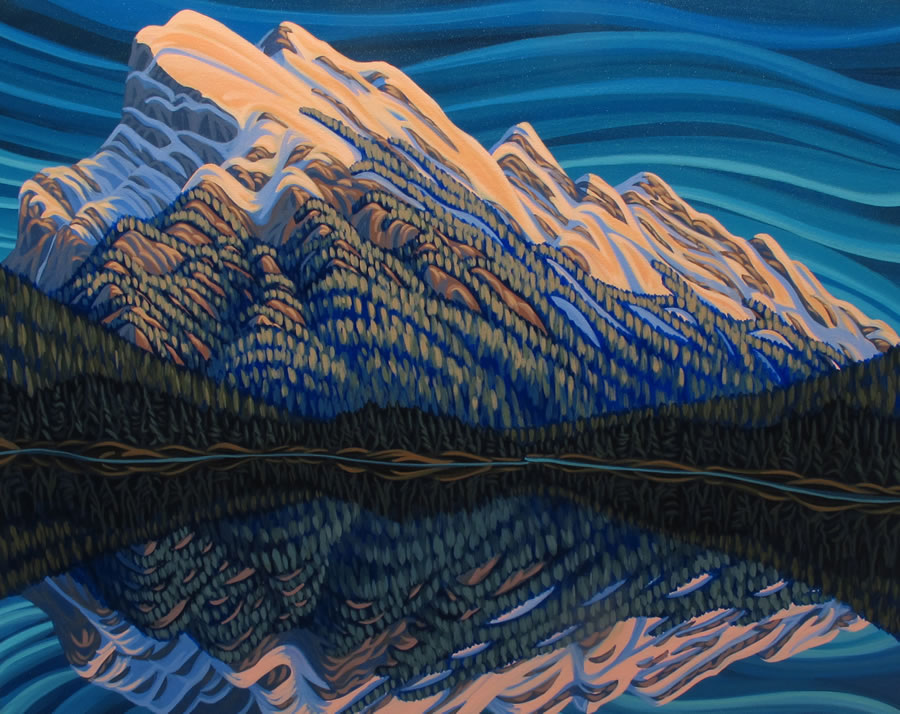 "Original Painting by Patrick Markle - ""Mount Rundle"" (Banff, Alberta)"