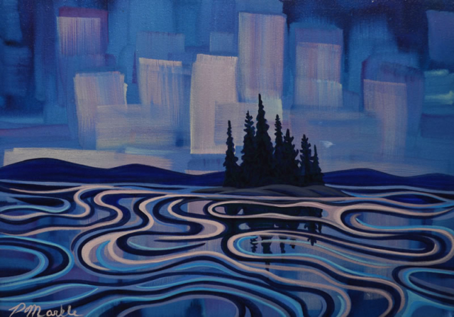 "Original Painting by Patrick Markle - ""Northern Lights II"""