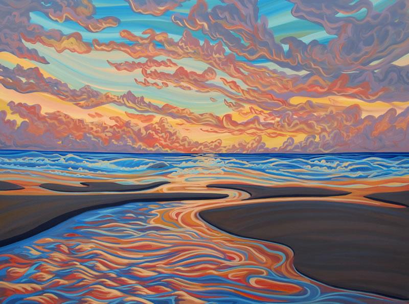 "Original Painting by Patrick Markle - ""Pacific Sunrise II"" (Pacific Rim National Park)"