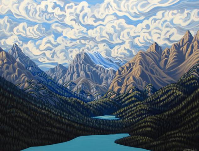 "Original Painting by Patrick Markle - ""Peyto Lake"" (Banff National Park)"
