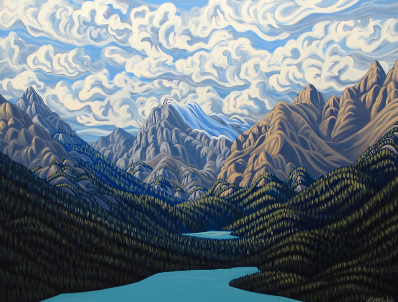 "Original Painting by Patrick Markle - ""Peyto Lake"" (Banff National Park)"
