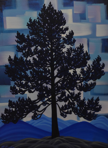 "Original Painting by Patrick Markle - ""Ponderosa Pine"""