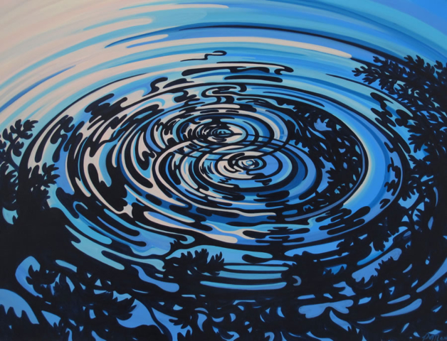"Original Painting by Patrick Markle - ""Ripples II"""