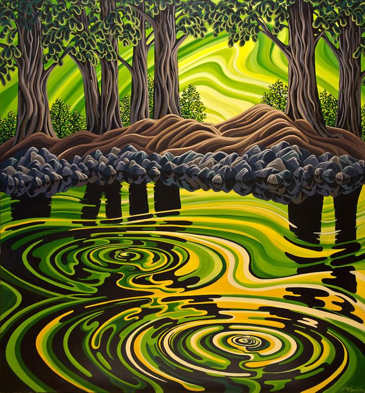 "Original Painting by Patrick Markle - ""Ripples"""