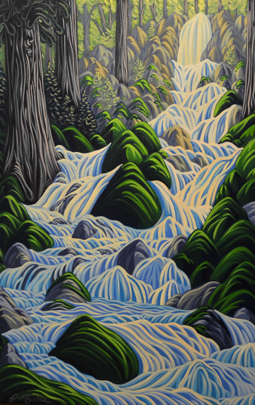 "Original Painting by Patrick Markle - ""Thirsty Cedar"""