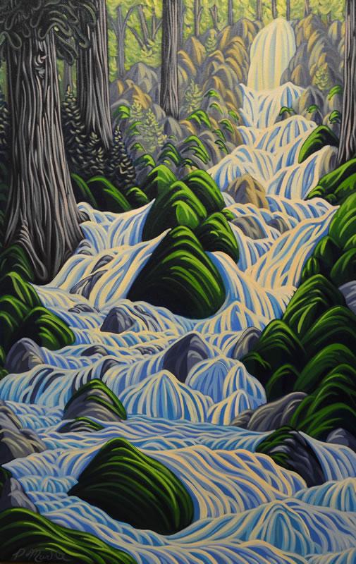"""Original Painting by Patrick Markle - """"Thirsty Cedar"""""""