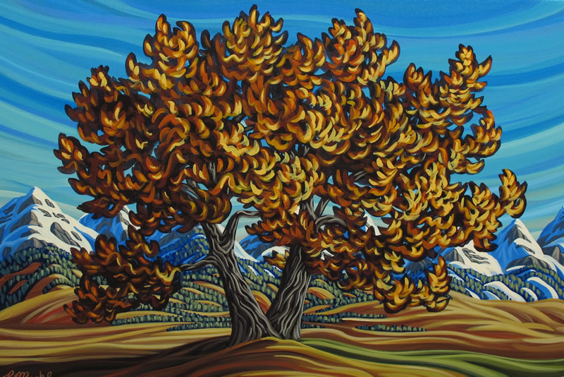 "Original Painting by Patrick Markle - ""Prairie Maple"""