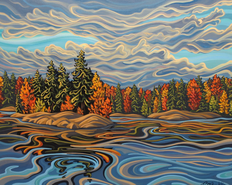 "Original Painting by Patrick Markle - ""Stoney Lake"""